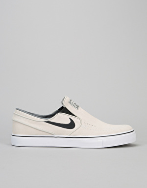 Nike SB Stefan Janoski Slip On Skate Shoes - Light Bone/Black-White