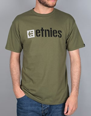 Etnies Box Logo T-Shirt - Military