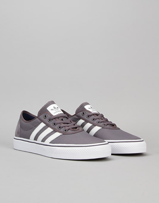 Adidas Adi-Ease Skate Shoes - Trace Grey/White/Mystery Blue