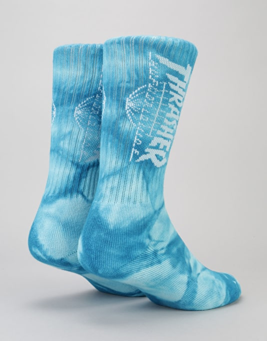 HUF x Thrasher TDS Crystal Wash Crew Socks - Mint