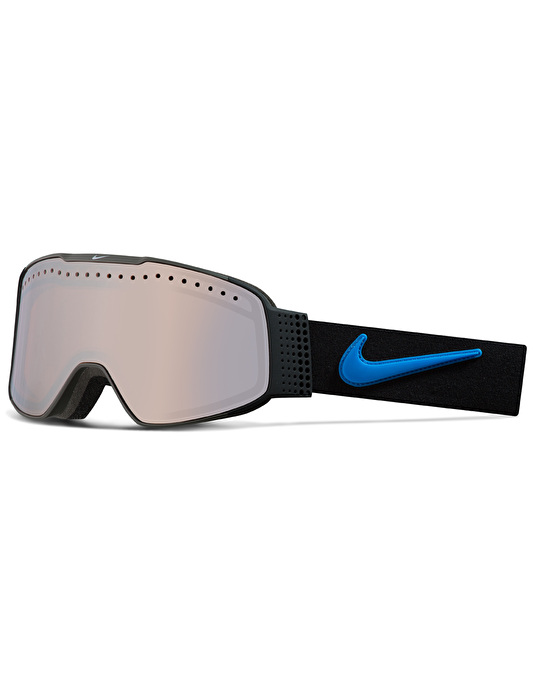 Nike Fade 2017 Snowboard Goggles - Black-Lt Photo Blue/Silver Ion