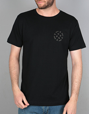 Route One Stamp Logo Fade T-Shirt - Black