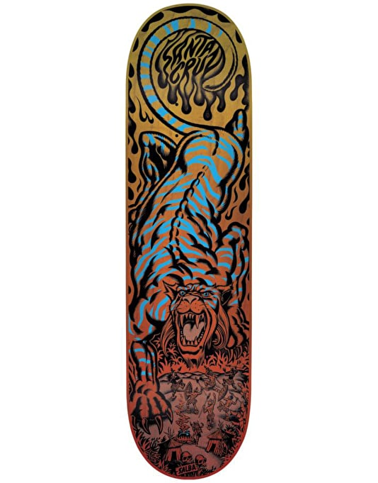 Santa Cruz Salba Tiger Pop Pro Deck - 8.6""