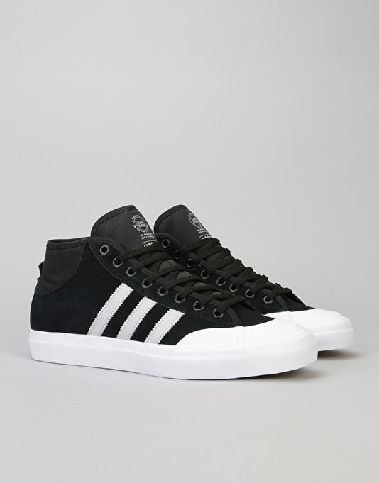 Adidas Matchcourt Mid ADV Skate Shoes - Black/Light Solid Grey/White