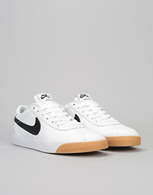 Nike SB Bruin Premium Skate Shoes - Summit White/Black-White