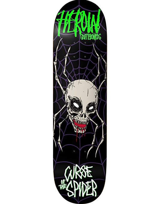 """Heroin Night Terrors Curse of the Spider Skateboard Deck - 8.44"""""""