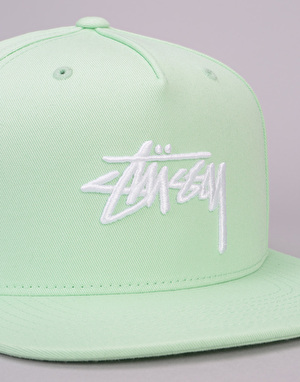 Stüssy Stock Snapback Cap - Light Lime