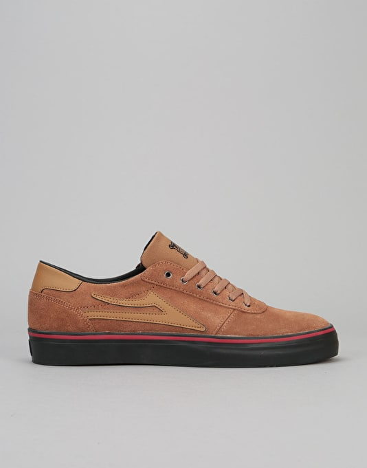 Lakai Manchester Lean Skate Shoes - Tobacco Suede