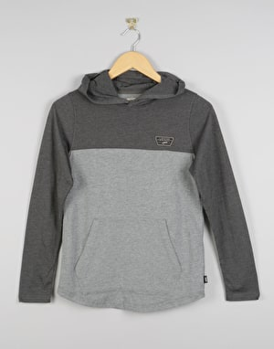 Vans Milroy Boys Pullover Hoodie - Charcoal Heather/Cement Heather
