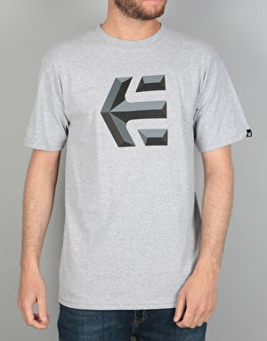 Etnies Mod Icon T-Shirt - Grey/Heather