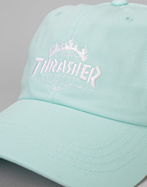 HUF x Thrasher TDS Curved Visor 6 Panel Cap - Mint