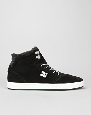 DC Crisis High WNT Skate Shoes - Black/White