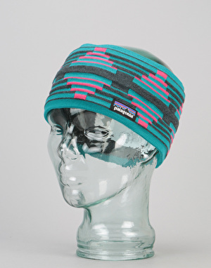 Patagonia Lined Knit Headband - Pueblo Stripe/Elwha Blue