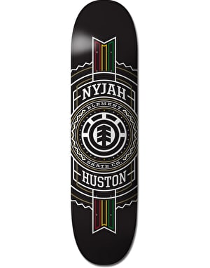Element Nyjah Rasta Stamped Featherlight Pro Deck - 8