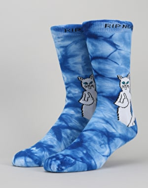 RIPNDIP Catfish Socks - Blue Tie Dye