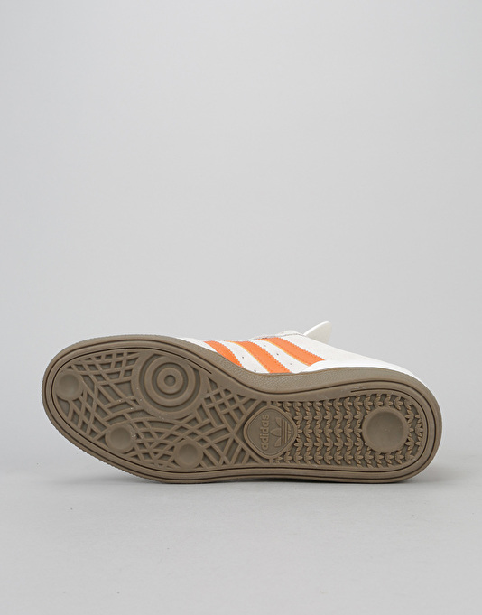 Adidas Busenitz Skate Shoes - Crystal White/Craft Orange/Gum