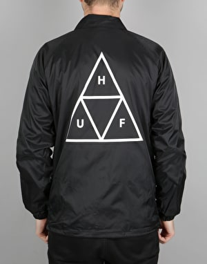 HUF Triple Triangle Coach Jacket - Black