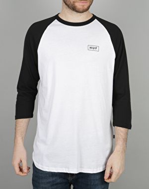 HUF Bar Logo Raglan T-Shirt - White/Black