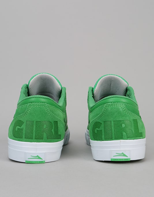 Lakai x Girl Griffin Skate Shoes - Green Suede