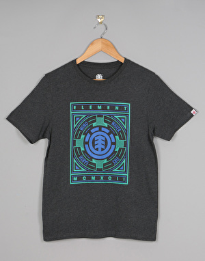 Element Emblem Boys T-Shirt - Charcoal Heather