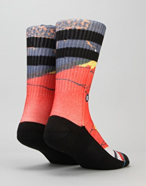 Stance Del Ray Classic Crew Socks - Red