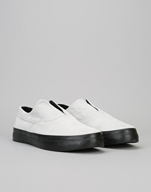 HUF Dylan Slip On Pro Skate Shoes - White/Black