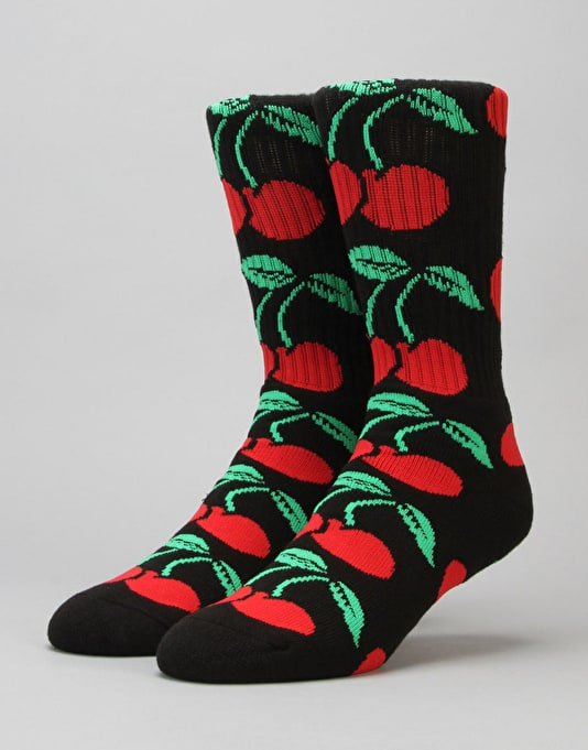 HUF Pop It Crew Socks - Black