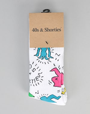 40's & Shorties Keith Socks -  White