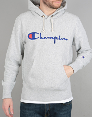 Champion Basic Reverse Weave Terry Logo Hooded Sweatshirt - LOXG