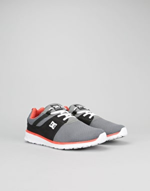 DC Heathrow SE Boys Skate Shoe - Grey/Orange/Grey