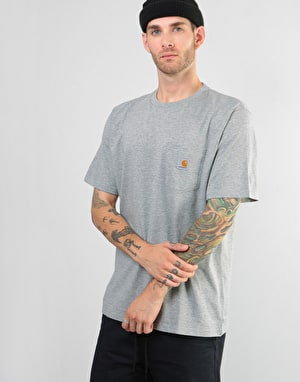 Carhartt S/S Pocket T Shirt - Dark Grey Heather