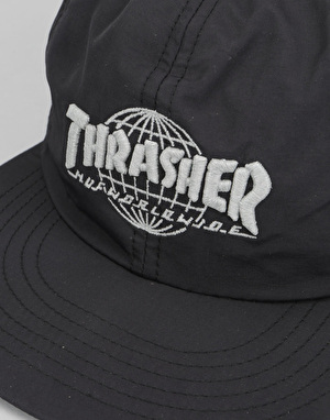 HUF x Thrasher TDS 6 Panel Cap - Black