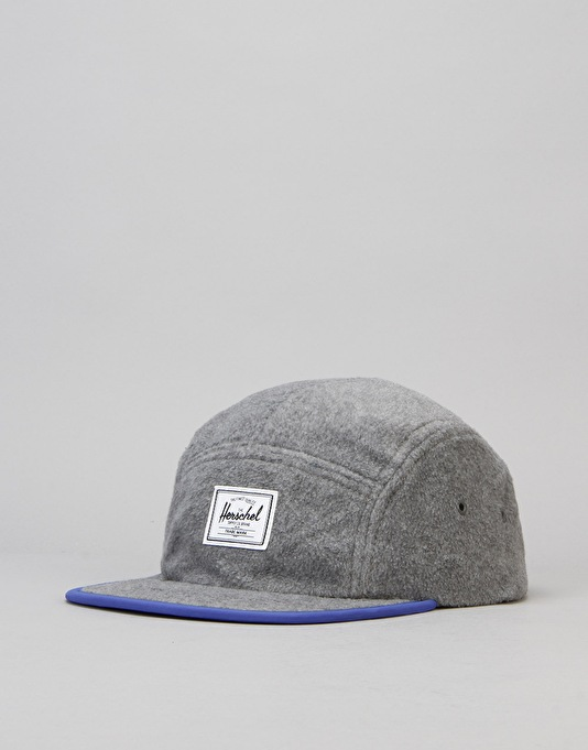 Herschel Supply Co. Glendale Polar Fleece 5 Panel Cap - Grey/Royal