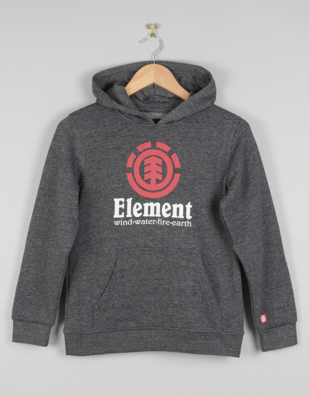 a4705670ca64 Element Vertical Boys Pullover Hoodie - Charcoal Heather
