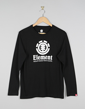 Element Vertical Long Sleeve Boys T-Shirt - Flint Black