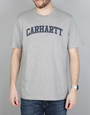 Carhartt S/S Yale T-Shirt - Grey Heather/Navy