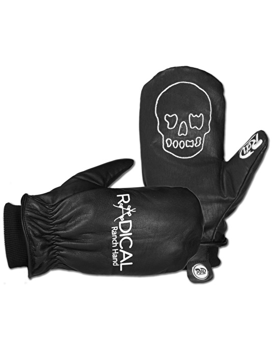 Radical Gloves The Ranch Hand 2017 Snowboard Mitts - Black