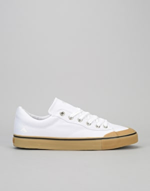 Emerica Indicator Low Skate Shoes - White/Gum