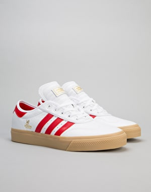 Adidas Adi-Ease Universal Skate Shoes - Running White/Scarlet/Gold