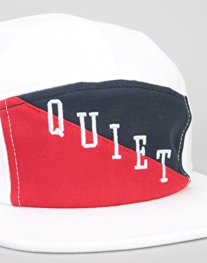 The Quiet Life Flag 5 Panel Cap - White