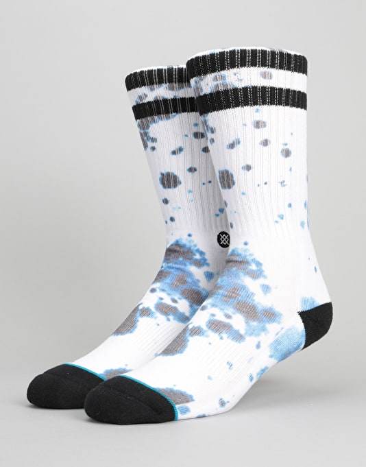 Stance Acid Athletic Crew Socks - White