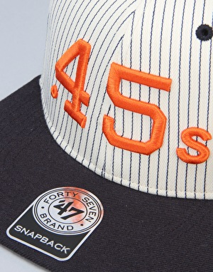 '47 Brand MLB Houston Astros .45 Woodside Captain Snapback Cap – Black