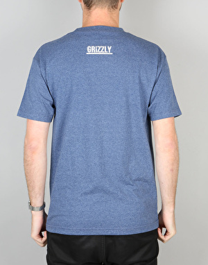 Grizzly OG Bear T-Shirt - Denim Heather