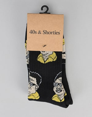 40's & Shorties Glorius Leader Socks  - Black