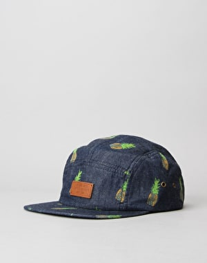 Globe Wright 5 Panel Cap - Indigo
