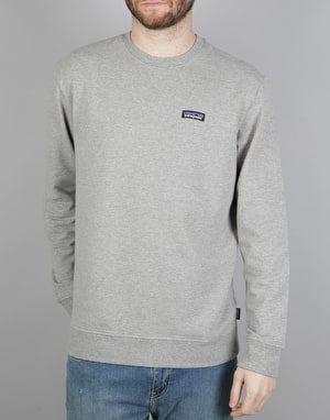 Patagonia P-6 Label Midweight Crew Sweatshirt - Feather Grey