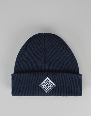 The National Skateboard Co. Double Fold/Logo Beanie - Navy