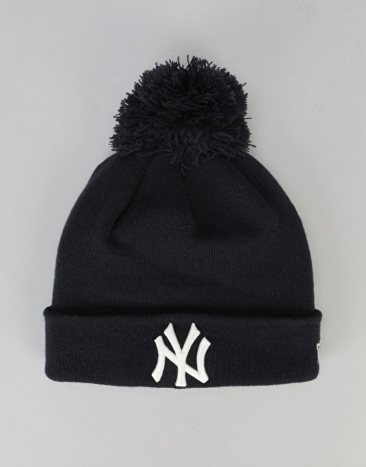 New Era MLB New York Yankees Glow In The Dark Bobble Beanie - Navy