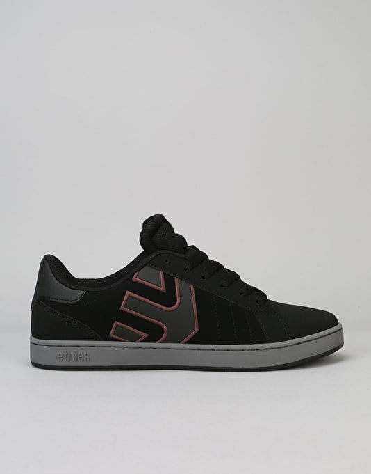 Etnies Fader LS Skate Shoes - Black/Grey/Black