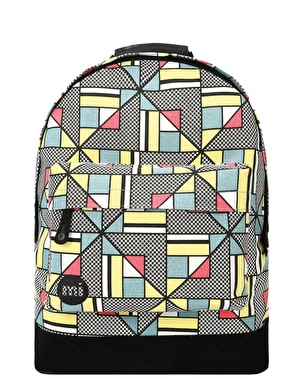 Mi-Pac Canvas Geometric Backpack - Multi